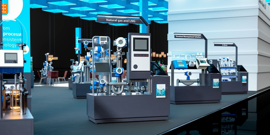Endress+Hauser virtual trade fair booth 2020